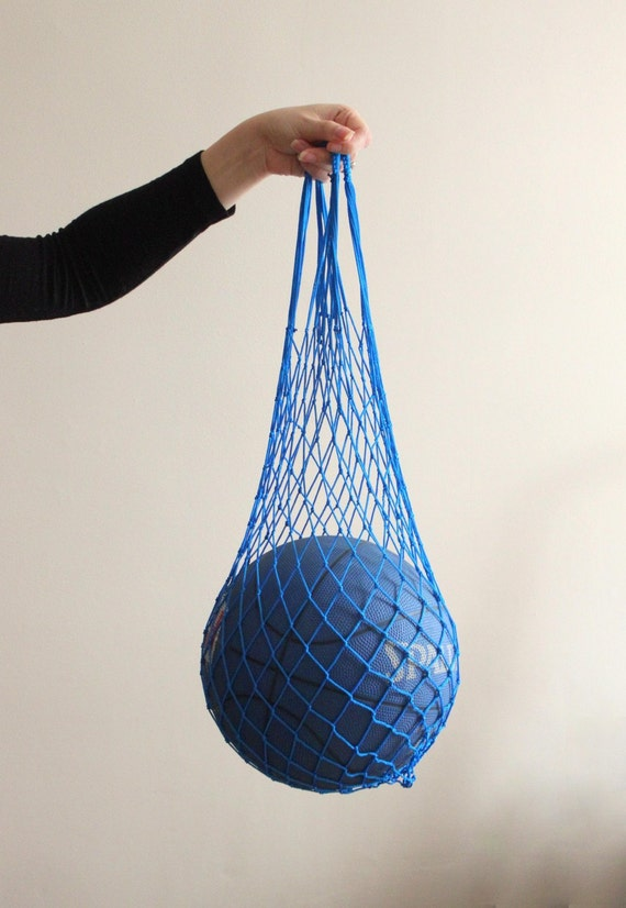 eco friendly royal blue net bag go green great to use at
