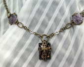 The Darkness of Dreams - Necklace with Vintage Jewels