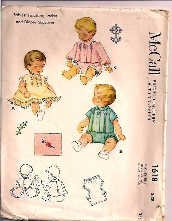 Vintage Baby Clothes 1950's Powder Blue Smocked Baby Girl  |1950 Baby Stuff