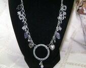 Beaded Charm Inspiration Pendant Necklace