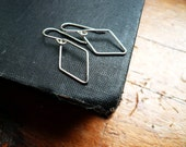 Silver Diamond Earrings in Sterling Silver - Small and Simple