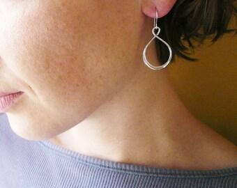 Infinity Earrings in Sterling SIlver. Silver Infinity Earrings. Big Infinity Earrings. Figure 8 Drop Earrings Large Sterling Silver Teardrop