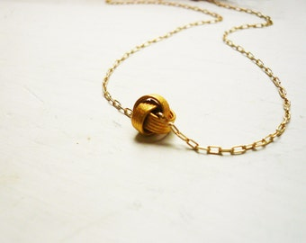 Gold Love Knot Necklace in Gold Filled and Vermeil - Sweet and Simple