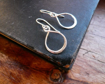 Small Infinity Earrings in Sterling SIlver
