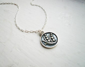 Lily of the Valley Necklace in Sterling Silver