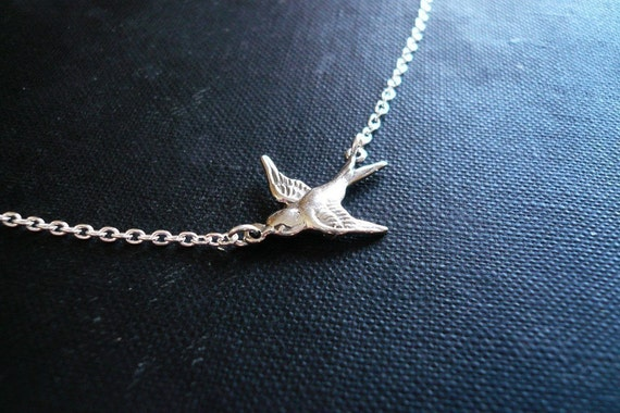 Soaring Sparrow Necklace in Sterling Silver