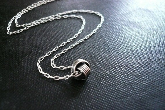 Silver Love Knot Necklace in Sterling Silver - Sweet and Simple