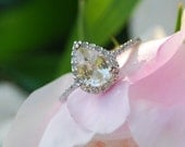 Champagne yellow pear sapphire diamond ring 14k white gold-4th payment