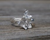 Spring flowers ring 1 in silver