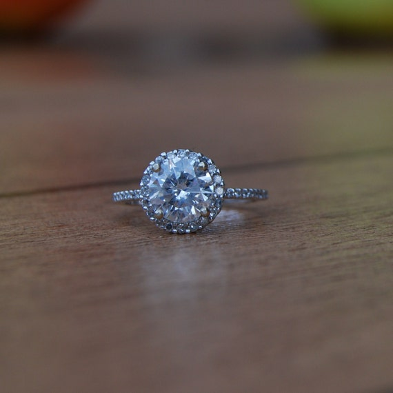1.38ct diamond halo ring 14k white gold-2nd payment-reserved