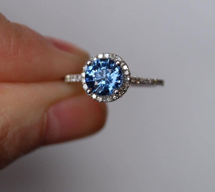Cushion Halo Engagement Ring Gold
