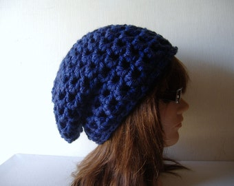 Slouch Beanie Hat in Electric Blue