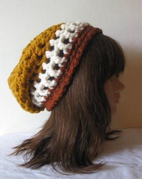 Slouch Beanie Hat in Autumn Harvest Pumpkin Spice