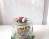 easter egg basket / sweet preserves jar