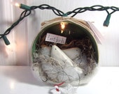 white love birds / ornament