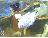 ACEO BALLET ballerina dance print Jim Smeltz