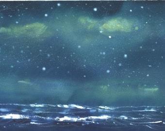 Star Light Seascape 5x7 in. print by Jim Smeltz