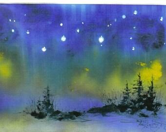 STARRY NIGHT 5x7 celestial print  Jim Smeltz w/aceo
