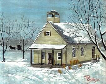 Amish School House 8x10 print Jim Smeltz