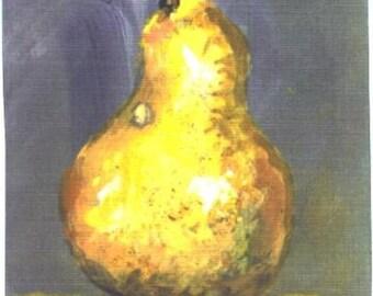 ACEO Pear  fruit print Jim Smeltz