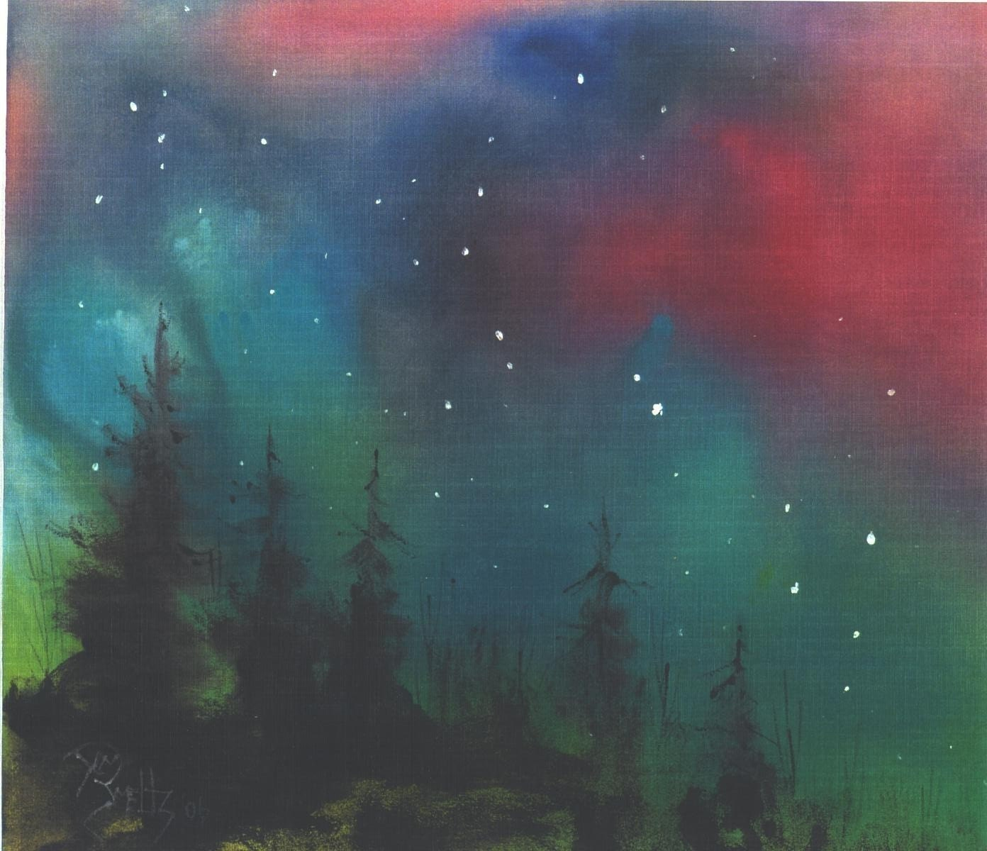 Northern Lights 5x7 Celestal Art Star Print Jim Smeltz
