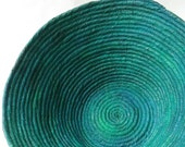 Large green coiled contemporary bowl