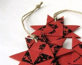 Star ornament red black stylish Christmas Danish