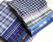 16 pc. 9x11inch recycled cotton shirt fabric