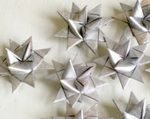 3d Star ornaments folded paper silver Moravian Christmas