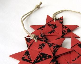 Star ornament red black stylish Christmas Danish