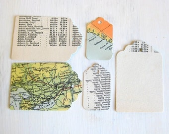 Tags vintage atlas map recycled