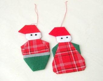 Christmas ornament Santa Claus handmade patchwork Danish design