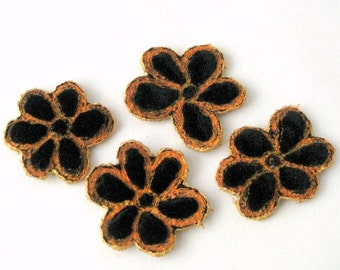 Velvet flowers embellishment halloween