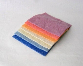 Wool fabric felt 6x6' recycled squares craft embellisher