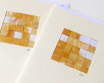 Card woven gold mini picture blank