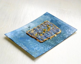 ACEO hand embroidery original fiber art