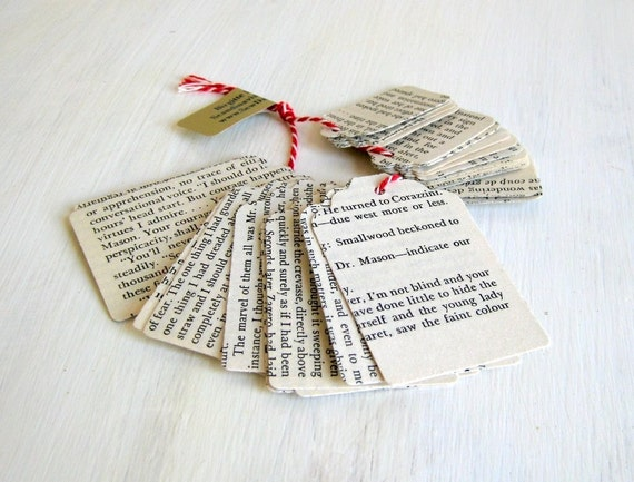 Tags handmade vintage English text