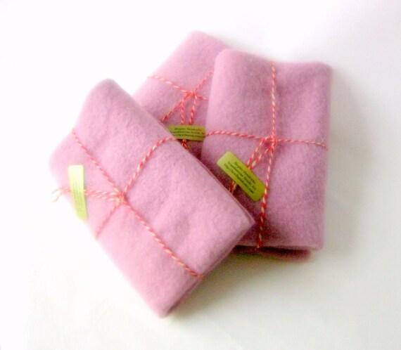 Wool blanket 15x24' felt craft recycled pastel mauve