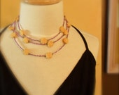 Carved Shell and Glass Necklace