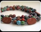 SHOP CLOSING SALE Vintage Indian Clay necklace -RASA