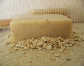 Oatmeal and Honey Goat's Milk Soap, made with ground oatmeal and pure honey, no fragrance added