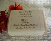 Baby Powder Goat Milk Soap, a nice smooth and light scent to remind you of baby.