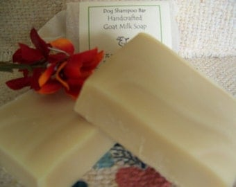 Natural Dog Shampoo Bar, with neem seed oil and Essential Oils/goats milk soap/made in vermont