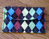 Argyle accesssory purse