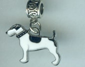 Silver JACK RUSSELL TERRIER Bead Charm for  Name Brand Add a Bead Bracelets
