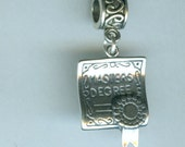 Sterling MASTER'S DEGREE Bead Charm for all Name Brand Add a Bead Bracelets