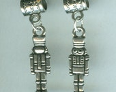 Silver NUTCRACKER Bead Charm for Trollbead, European and Name Brand Add a Bead Bracelets - 3D