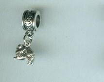 Sterling POMERANIAN Dog Bead Charm for Pandora, Troll, Add a Bead Charm Bracelet