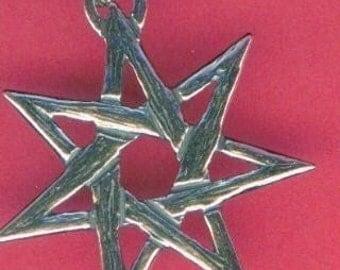 Elven, Septagram or Faery Star - Sterling Silver Pendant