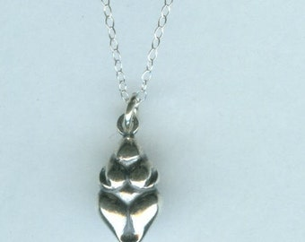 Sterling WILLENDORF GODDESS Pendant AND Chain - Pagan, Celtic, Woman